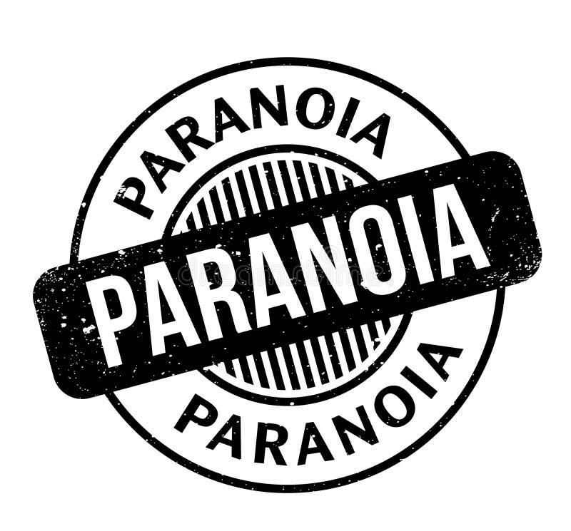 Paranoi pieczątka ilustracja wektor
