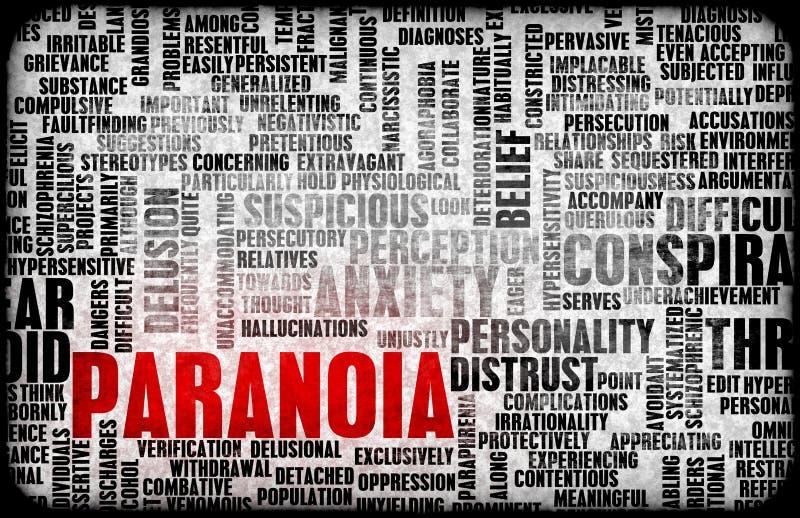 Paranoia royalty-vrije illustratie