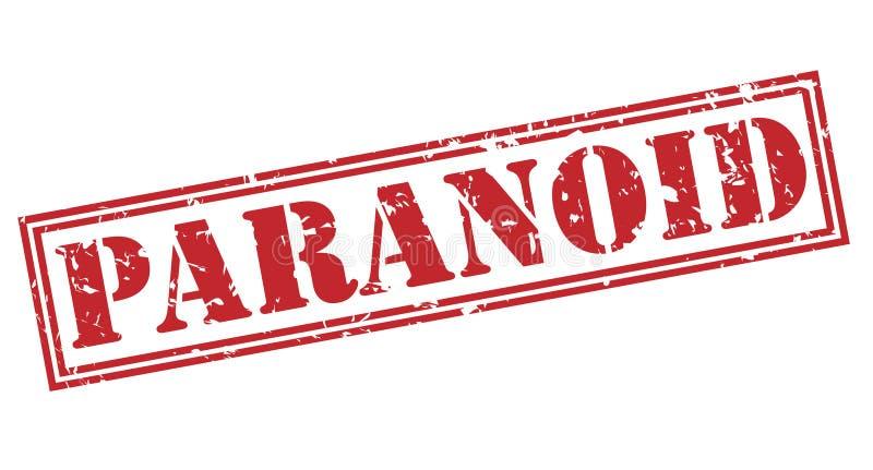 Paranoid stamp on white background stock illustration
