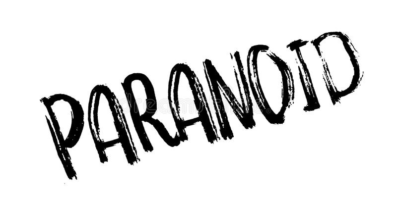 Paranoid rubber stamp vector illustration