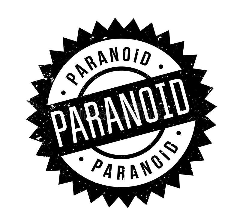 Paranoid rubber stamp stock illustration