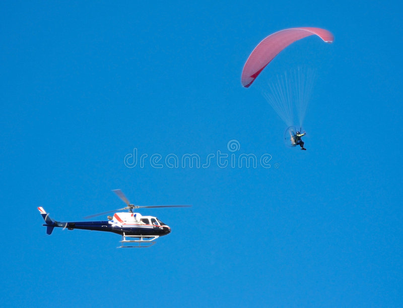 Download Parapente pursuit stock image. Image of helicopter, rebel - 8499201