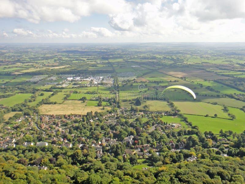 Parapentiste dans Severn Valley photos libres de droits