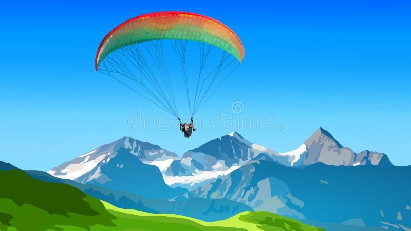 Paraplane резвится лето иллюстрация штока