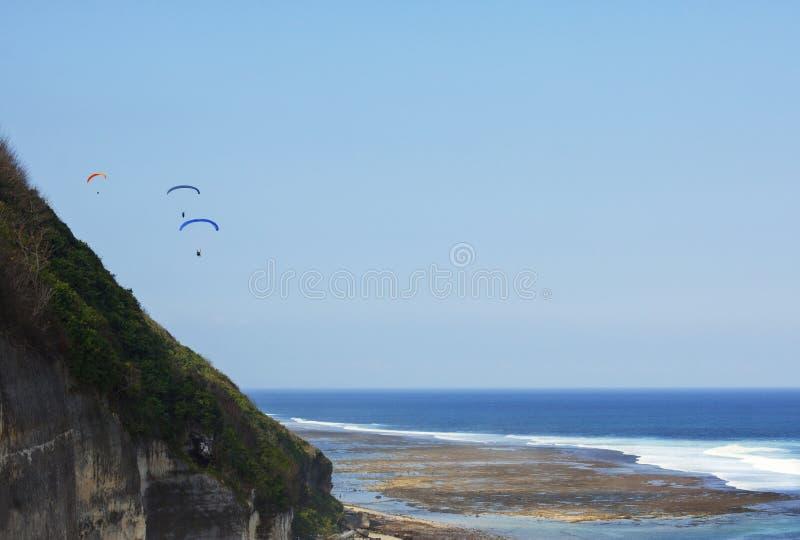 Paraplane dans Bali photographie stock libre de droits