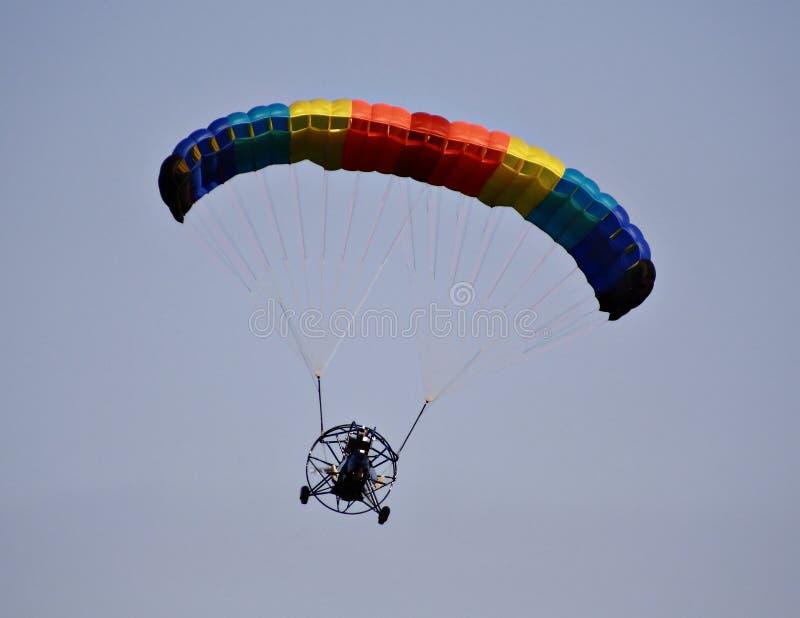 Paraplane in flight stock images