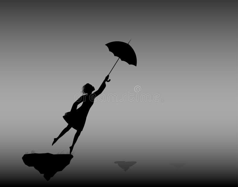 paraplu stock illustratie