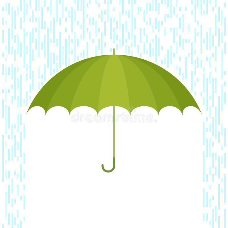 Paraplu en regen F vector illustratie
