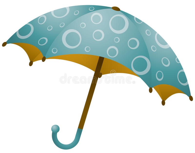 Paraplu met Cirkel royalty-vrije stock afbeelding