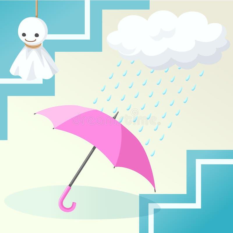 paraplu regenachtig seizoen royalty-vrije stock afbeelding