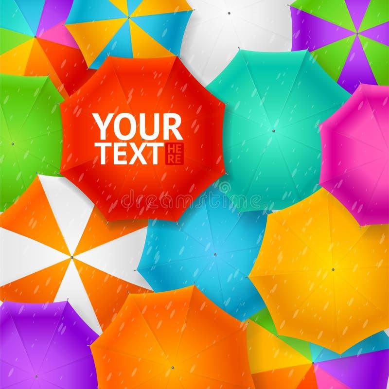 Paraplu's Autumn Background Vector royalty-vrije illustratie