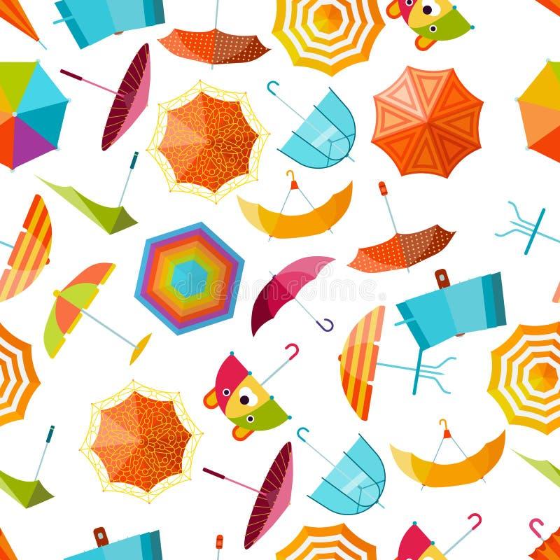 Paraplu vector naadloos patroon royalty-vrije illustratie