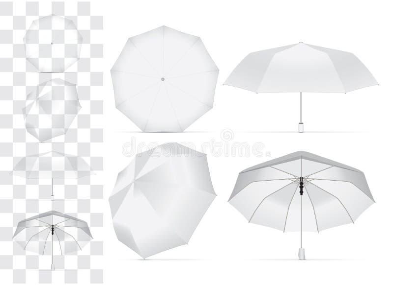 Paraplu voor uw ontwerp en embleem royalty-vrije illustratie