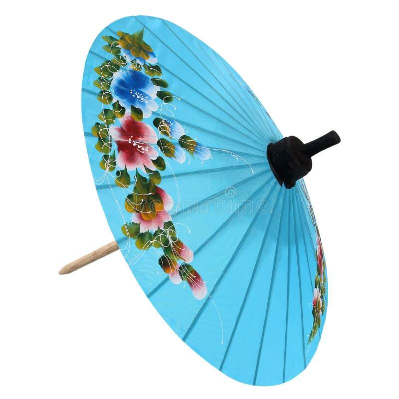 Parapludocument van wit wordt geïsoleerd dat royalty-vrije stock fotografie