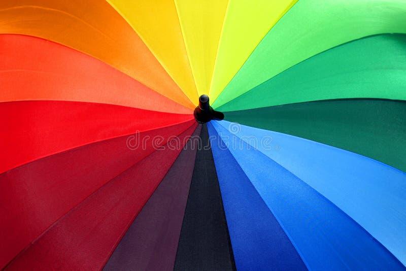 Parapluie 1 d'arc-en-ciel photos libres de droits