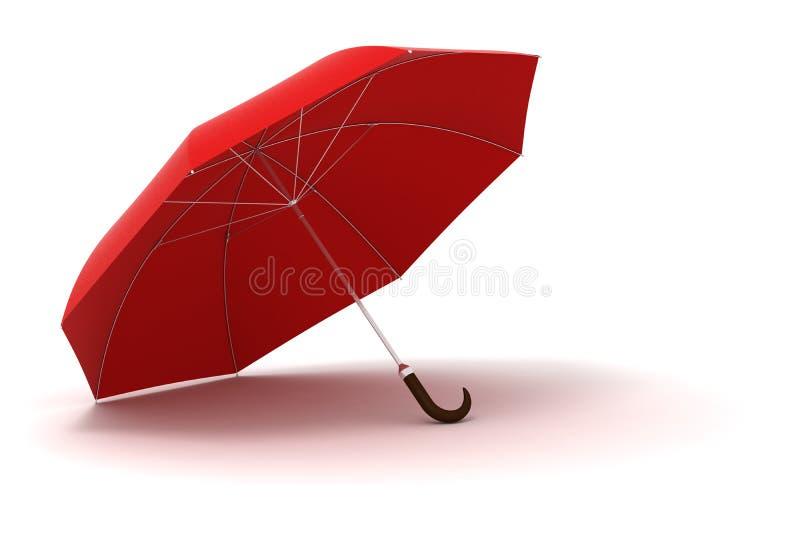 parapluie 3d rouge - haut détaillé illustration stock