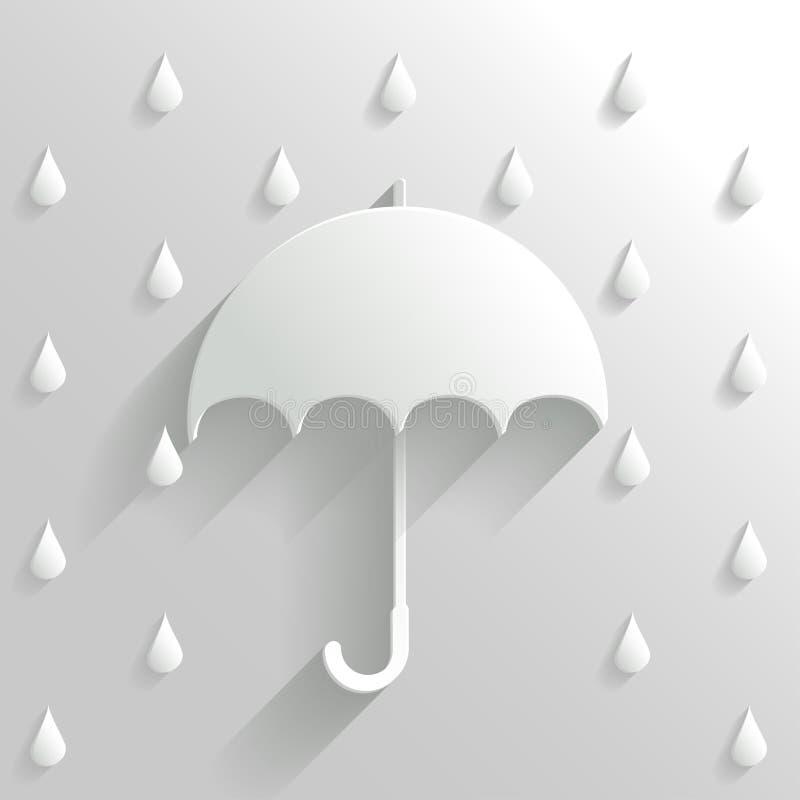 Parapluie abstrait sur le fond blanc illustration libre de droits