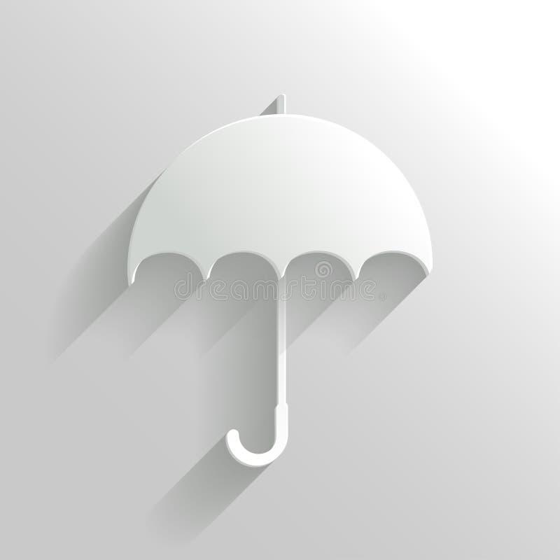 Parapluie abstrait sur le fond blanc illustration de vecteur