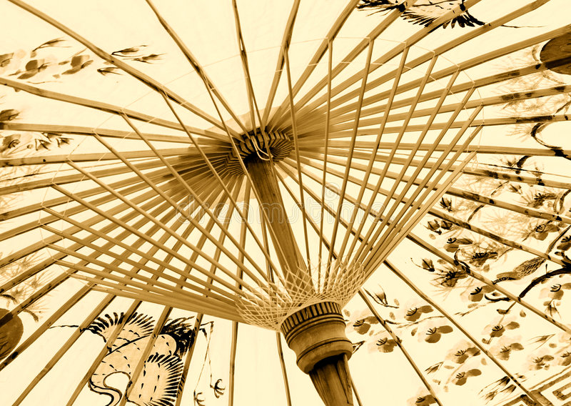 Parapluie asiatique traditionnel photo stock