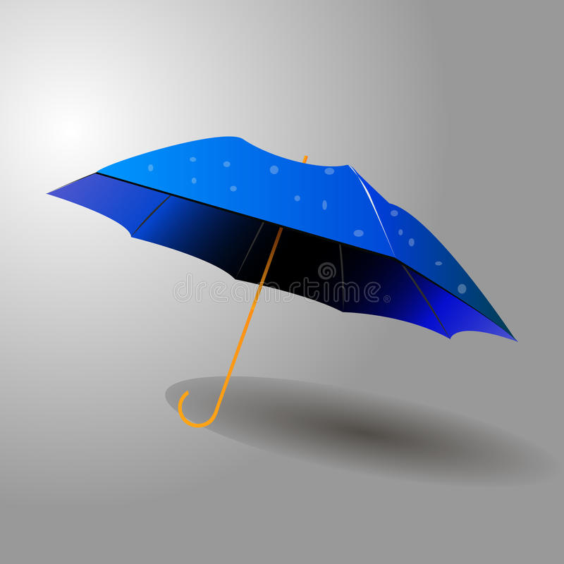 Parapluie bleu photo stock