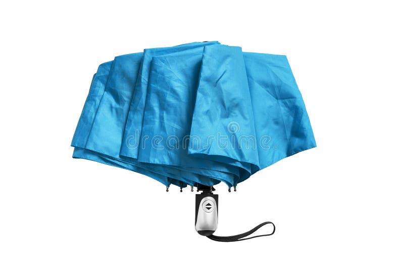 Parapluie bleu d'isolement image stock