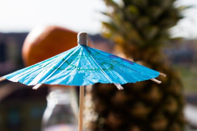 Parapluie chinois bleu de papier images libres de droits