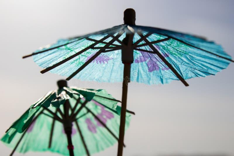 Parapluie chinois bleu de papier photo libre de droits