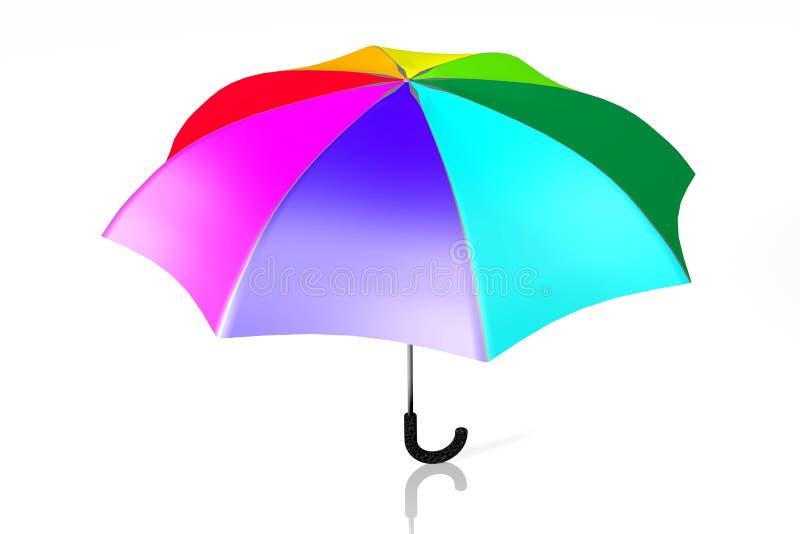 Parapluie coloré illustration de vecteur