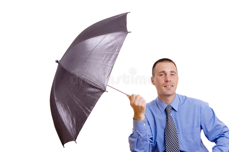 Parapluie d'affaires image stock