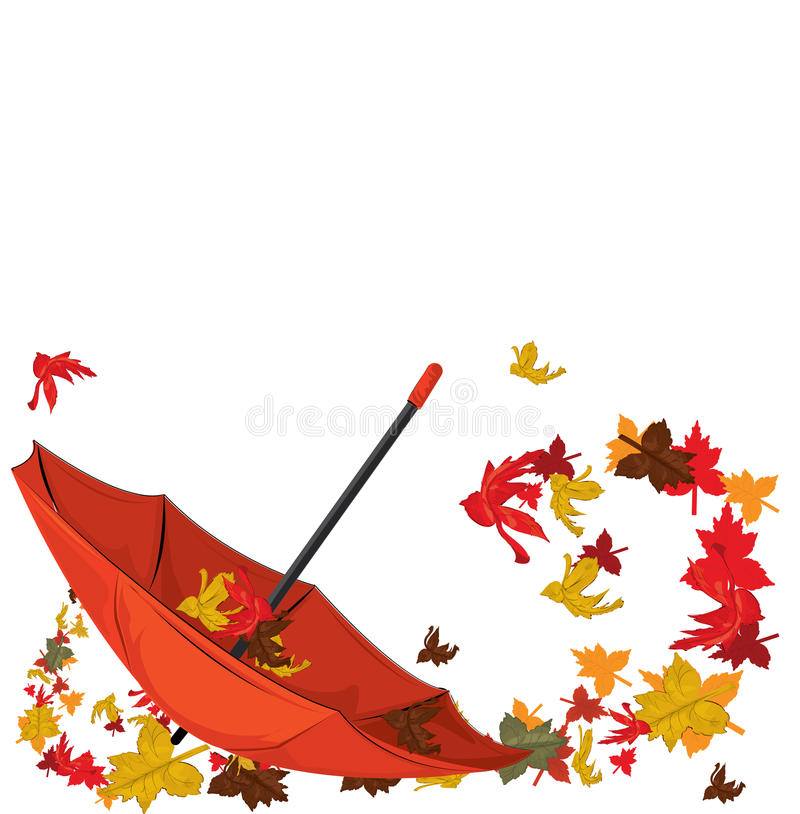 Parapluie d'automne illustration de vecteur