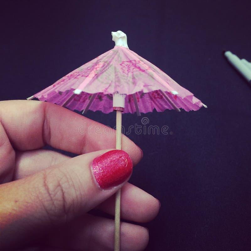 Parapluie de boissons photographie stock