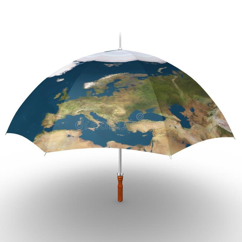 Parapluie de carte illustration libre de droits