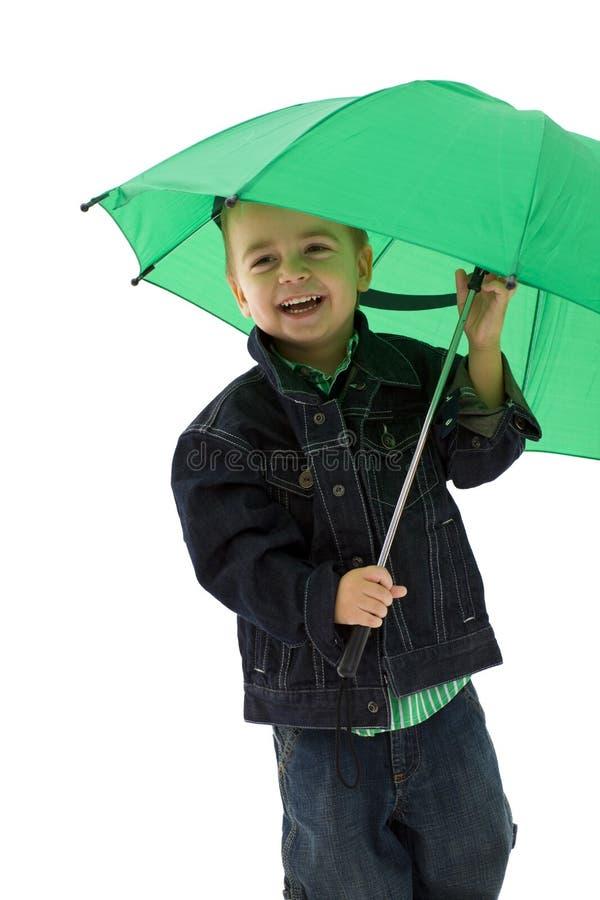 parapluie de garçon images libres de droits