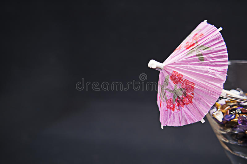 Parapluie de Martini photographie stock