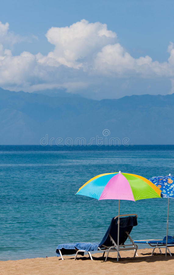 Parapluie de plage photos stock