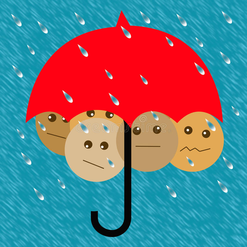 Parapluie de plan en avant illustration libre de droits