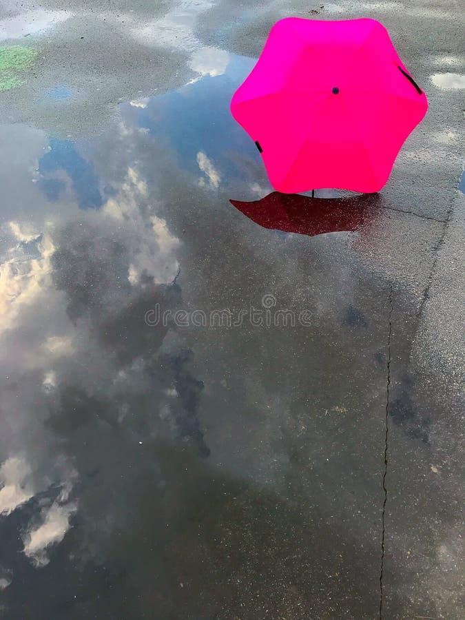 Parapluie et magma photo libre de droits