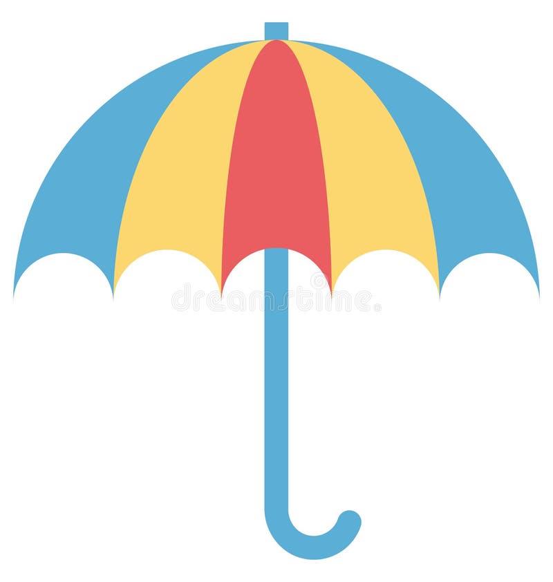 Parapluie, icône de vecteur de parasol editable illustration de vecteur