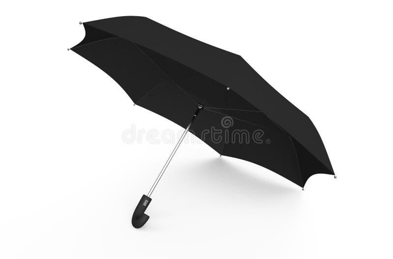 Parapluie noir illustration de vecteur