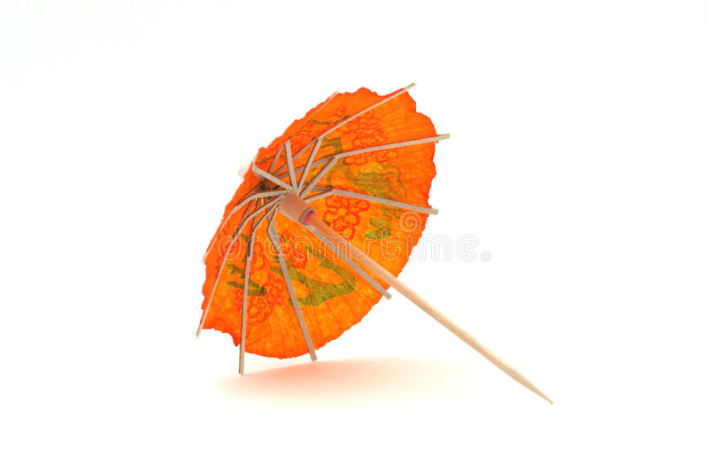 Download Parapluie Orange #2 De Cocktail Photo stock - Image du porcelaine, festive: 732630