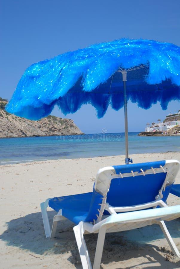 parapluie tropical de présidence de plage photo stock