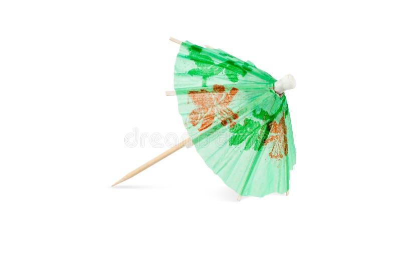 Parapluie vert de cocktail images libres de droits