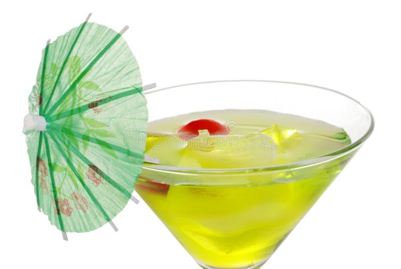 parapluie vert de martini de plan rapproché photos libres de droits
