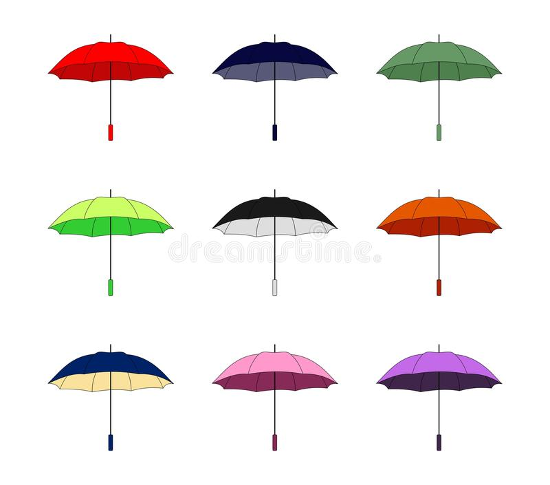 parapluies illustration stock