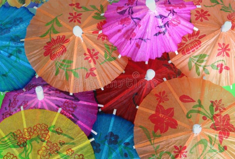 Parapluies asiatiques de cocktail photos libres de droits