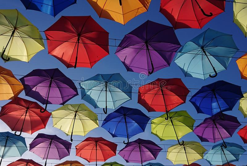 Parapluies colorés photo stock