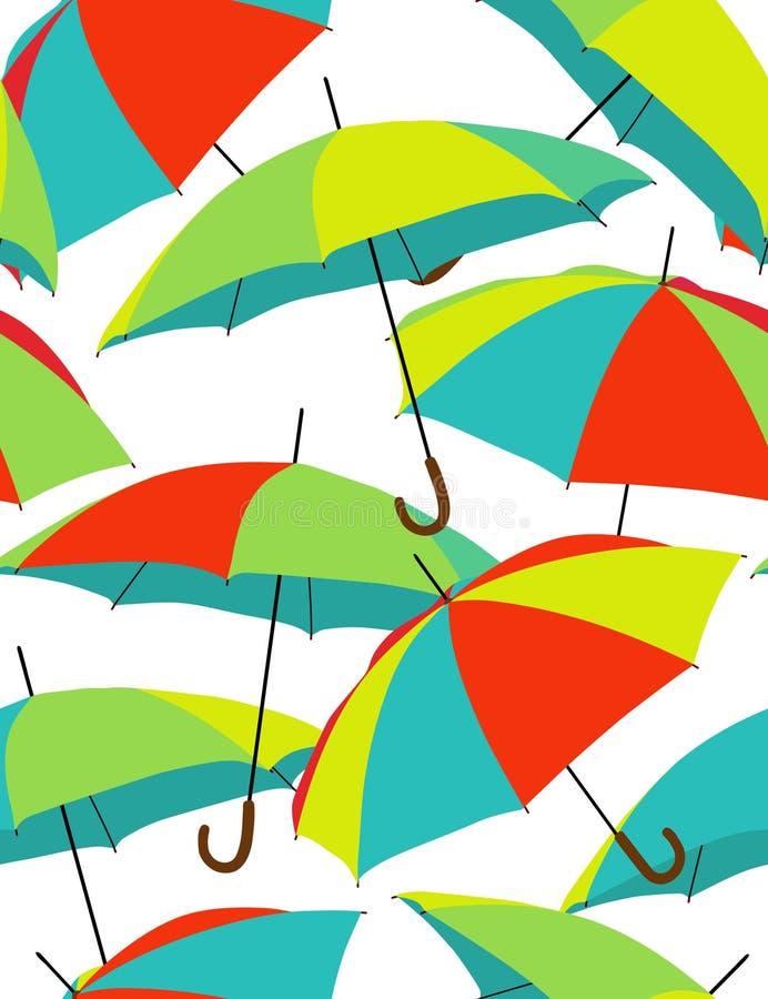 Parapluies d'arc-en-ciel illustration de vecteur