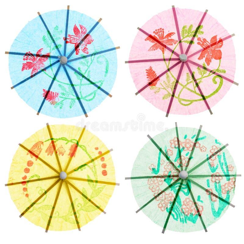 Parapluies de papier de boissons photos libres de droits
