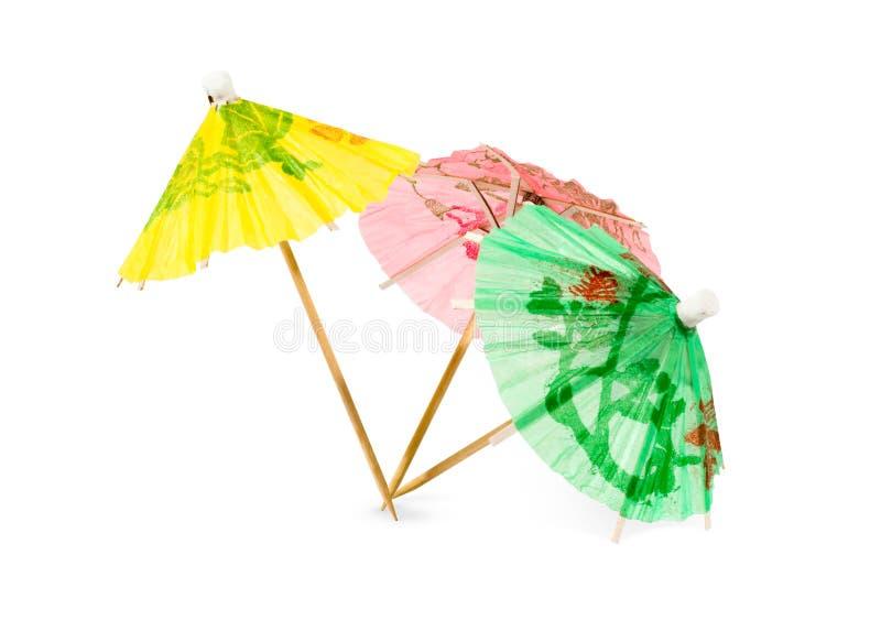 Parapluies de papier de cocktail image libre de droits