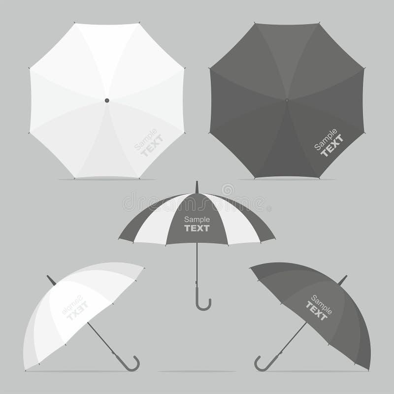 Parapluies de vecteur réglés illustration libre de droits
